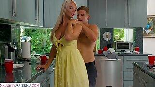 MILF stepmom transforms her stepson into her personal sex slave