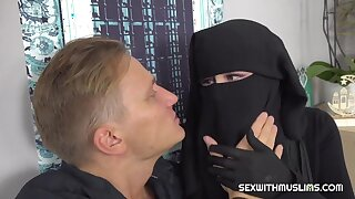 Uninhabited muslim has sex with caring friend