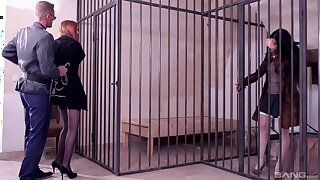 First time these caged sluts share a huge dong in such mesmerizing scenes