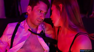 Sexually compulsive babe Audrey Hempburn is making love about two married guy