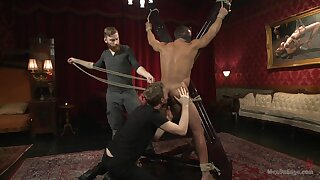 Full bareback BDSM porn with a couple of undressed gay men
