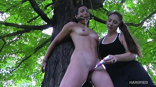 Cruel mistress is over-exacting tied up bitch Wenona