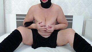 Old Woman Bdsm Wearing Black
