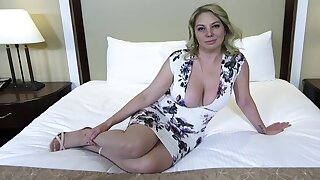 Big ass and chest blonde MILF