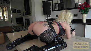 Flaxen-haired wife Princess Eve in lingerie gets fucked balls deep