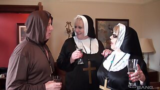 Nuns fuck with be passed on clergyman forth crazy threesome fetish