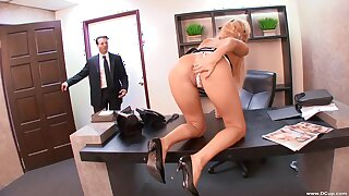 Superb nude sex for a difficulty busty secretary