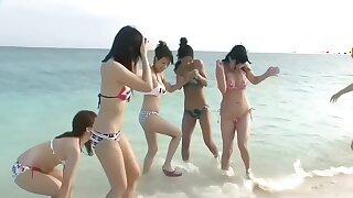 Six Beautiful Japanese Girls Beach Orgy (Uncensored)