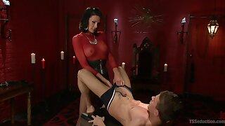 Dominant shemale shows her male slave proper anal pleasure