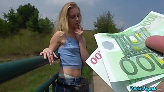 Innocent Alecia Fox receives an indecent proposal from Public Agent